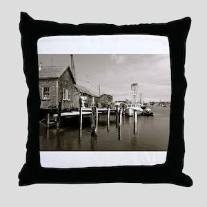 Menemsha Black & White Throw Pillow