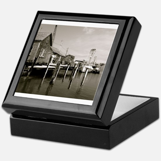Menemsha Black & White Keepsake Box