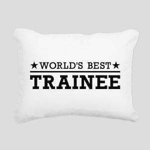 World's best Trainee Rectangular Canvas Pillow