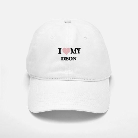 I Love my Deon (Heart Made from Love my words) Baseball Baseball Cap