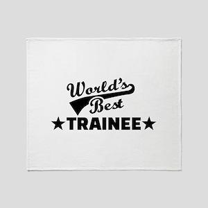 World's best Trainee Throw Blanket