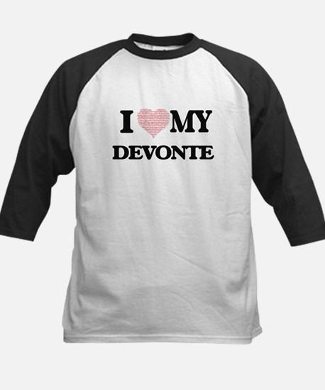 I Love my Devonte (Heart Made from Baseball Jersey