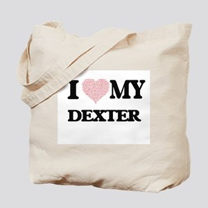 I Love my Dexter (Heart Made from Love my Tote Bag