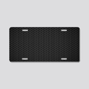 BLACK HONEYCOMB Aluminum License Plate