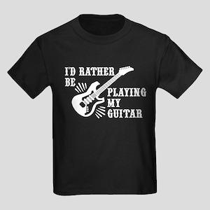 Funny guitar Kids Dark T-Shirt