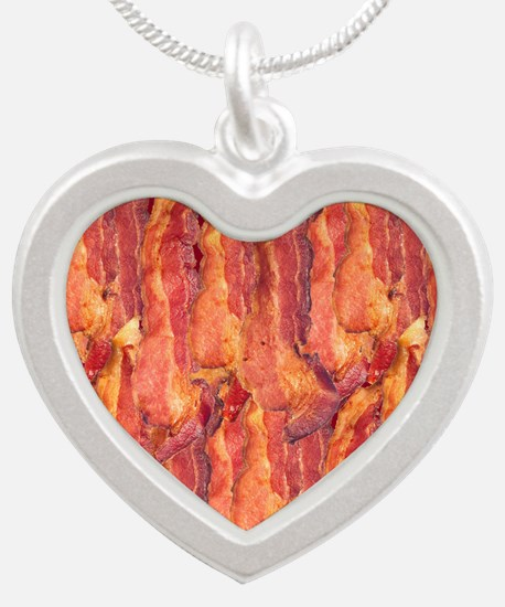 BACON Silver Heart Necklace