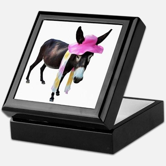 Cocoa Donkey with Hat & Scarf Keepsake Box