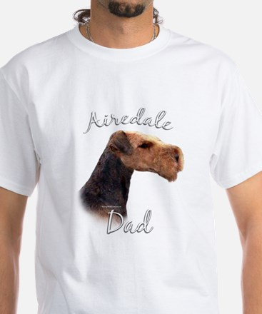 Airedale Dad2 White T-Shirt