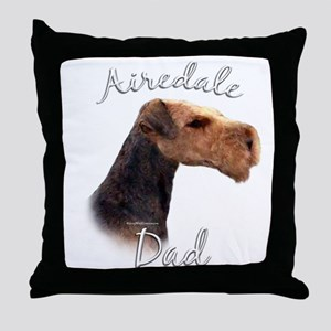 Airedale Dad2 Throw Pillow