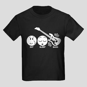 Eat Sleep Bass Kids Dark T-Shirt