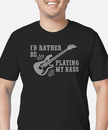 I'd Rather Be Playing Men's Fitted T-Shirt (dark)