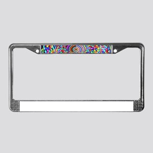 Psychedelic Trip License Plate Frame