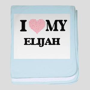 I Love my Elijah (Heart Made from Lov baby blanket