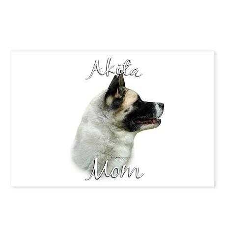 Akita Mom2 Postcards (Package of 8)