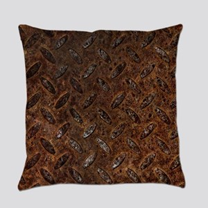 RUSTY METAL PATTERN Everyday Pillow