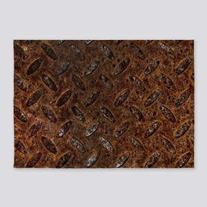 RUSTY METAL PATTERN 5'x7'Area Rug