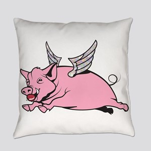 when pigs fly Everyday Pillow