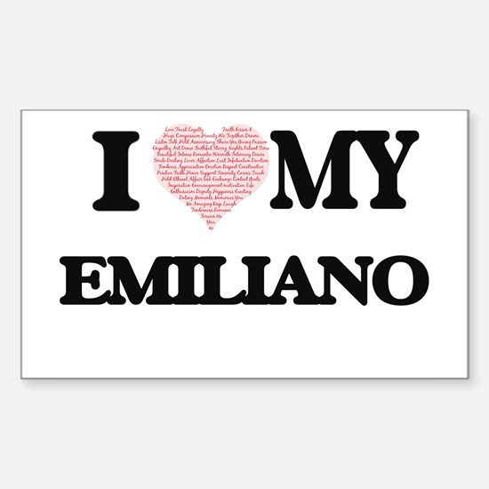 I Love my Emiliano (Heart Made from Love m Decal
