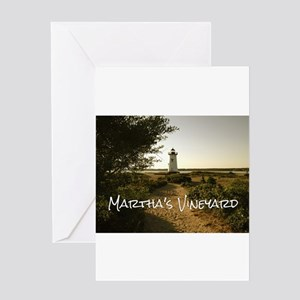 Lighthouse Path Greeting Cards