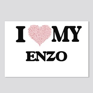 I Love my Enzo (Heart Mad Postcards (Package of 8)