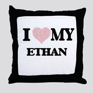 I Love my Ethan (Heart Made from Love Throw Pillow