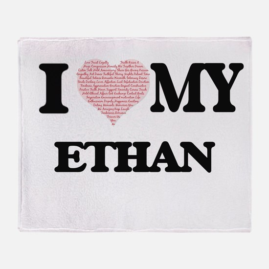 I Love my Ethan (Heart Made from Lov Throw Blanket