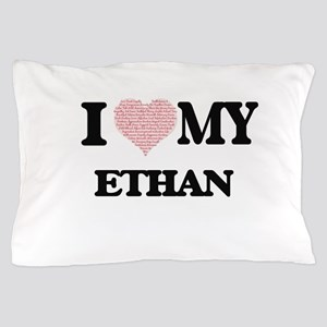 I Love my Ethan (Heart Made from Love Pillow Case
