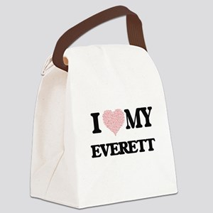 I Love my Everett (Heart Made fro Canvas Lunch Bag