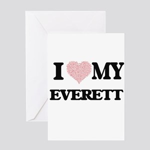 I Love my Everett (Heart Made from Greeting Cards