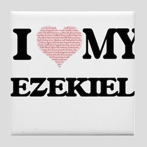 I Love my Ezekiel (Heart Made from Lo Tile Coaster