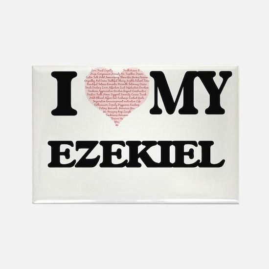 I Love my Ezekiel (Heart Made from Love my Magnets