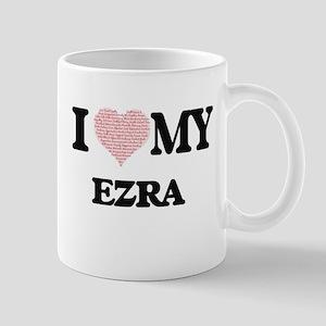 I Love my Ezra (Heart Made from Love my words Mugs