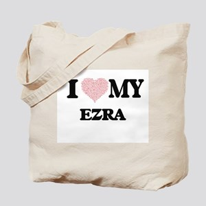 I Love my Ezra (Heart Made from Love my w Tote Bag