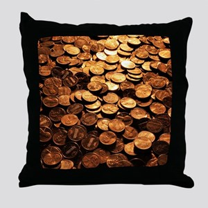 PENNIES Throw Pillow