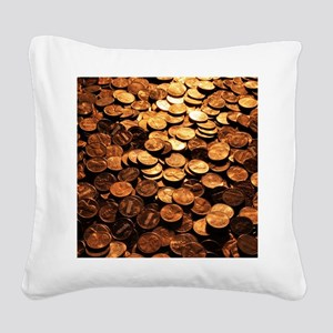 PENNIES Square Canvas Pillow