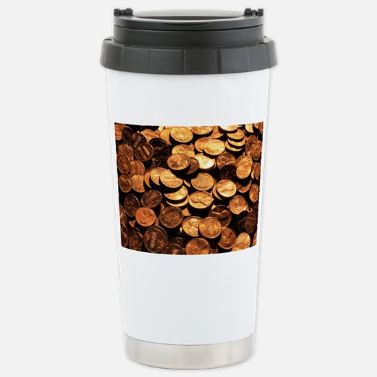 PENNIES Stainless Steel Travel Mug