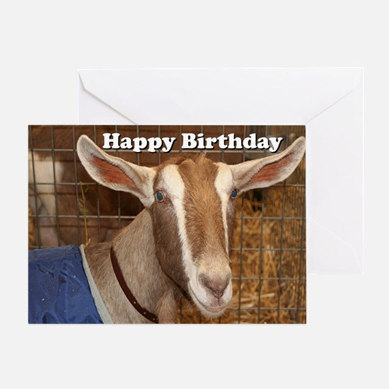 Goat birthday greeting cards cafepress cool goat birthday greeting card bookmarktalkfo Image collections
