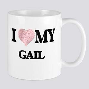 I Love my Gail (Heart Made from Love my words Mugs