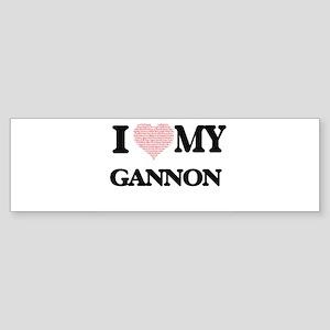 I Love my Gannon (Heart Made from L Bumper Sticker
