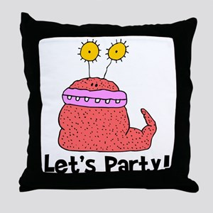 Let's Party Monster Throw Pillow