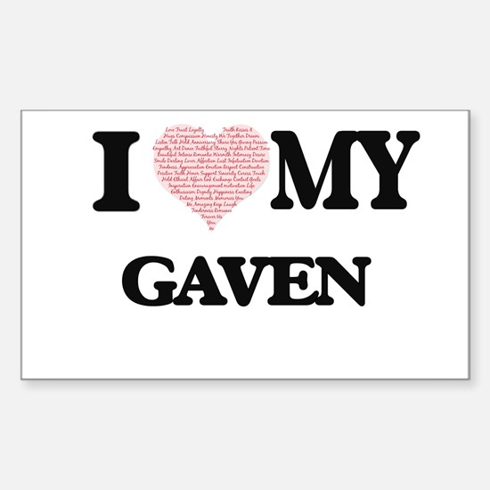I Love my Gaven (Heart Made from Love my w Decal