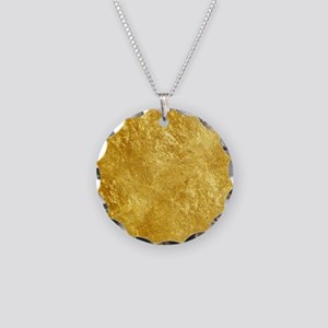 GOLD Necklace Circle Charm