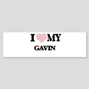 I Love my Gavin (Heart Made from Lo Bumper Sticker