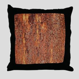 FLAKY RUSTING METAL Throw Pillow