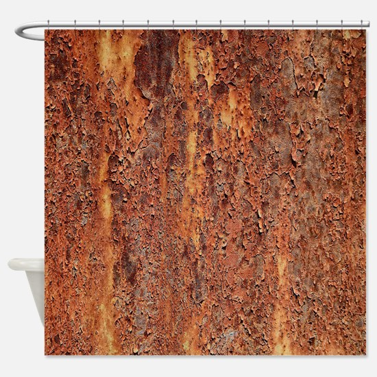 FLAKY RUSTING METAL Shower Curtain