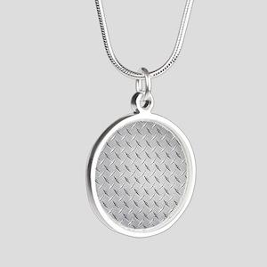 diamond Silver Round Necklace