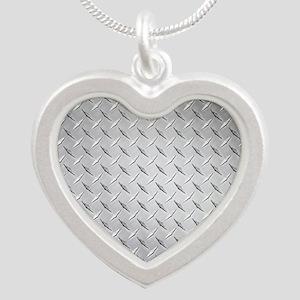 diamond Silver Heart Necklace