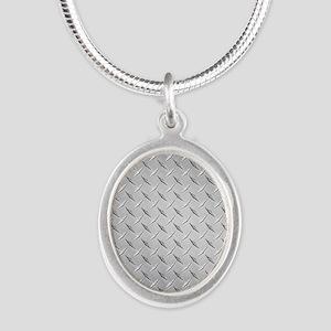diamond Silver Oval Necklace