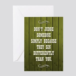DON'T JUDGE... Greeting Cards