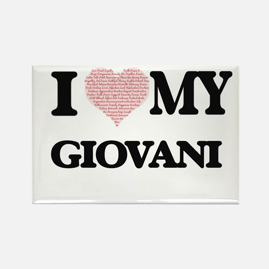 I Love my Giovani (Heart Made from Love my Magnets